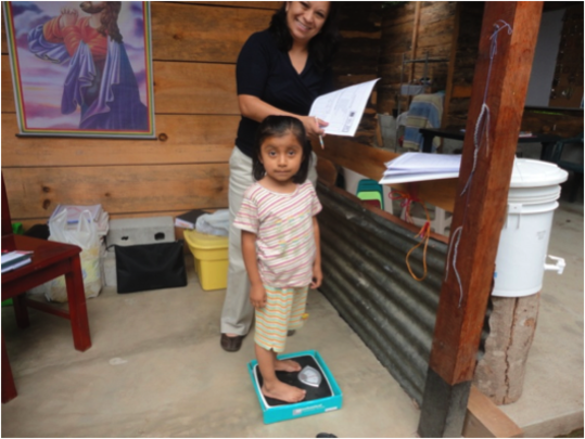 Wakami Village Technology monitors children weight