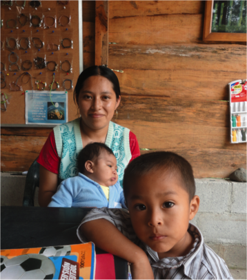 One of the project beneficiaries, Julia Gomez