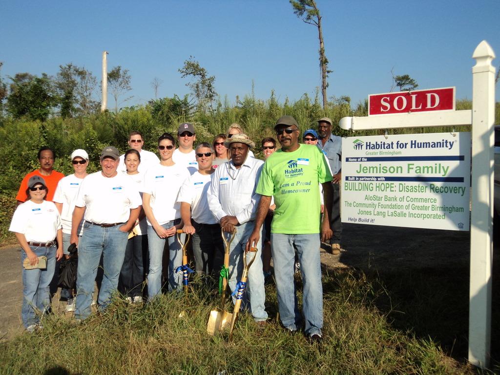 Mr. Jemison among volunteers on groundbreaking day