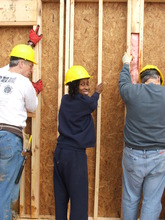 Alecia works with vols on her Pleasant Grove home