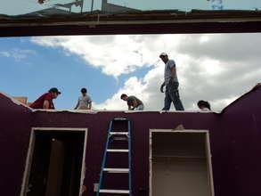 Volunteers rebuilding