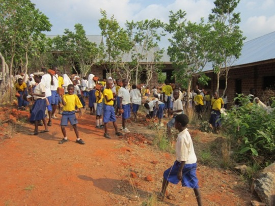 Students Cleaning the School Grounds