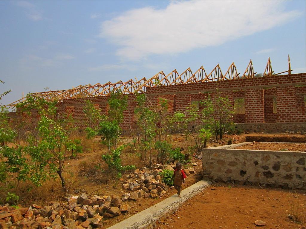 Amahoro Secondary School Roof in Progress