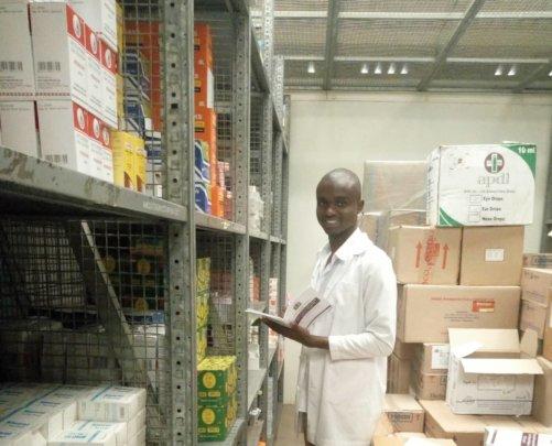 Dibeit retrieving medical supplies