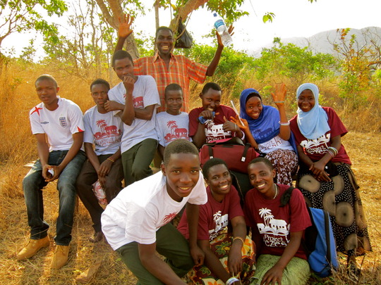 Scholarship Students and co-founder, Lucas Lameck
