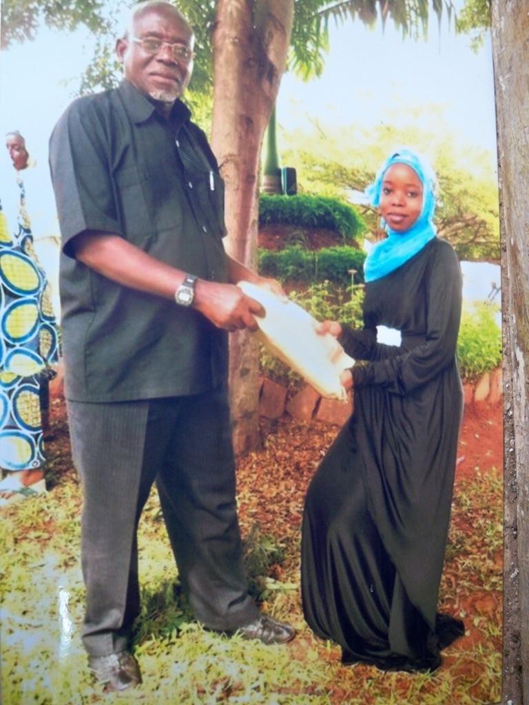 Khadija - Congrats from Baba (former chief)
