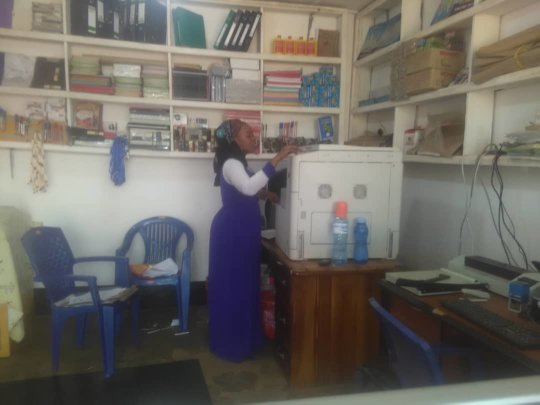 Khadija -- A young entrepreneur in her new shop