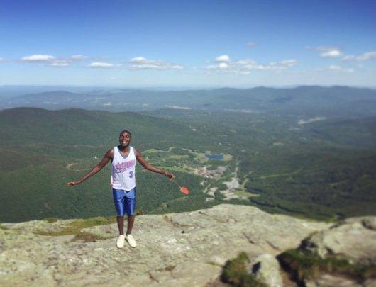Lucas on Mt. Mansfield