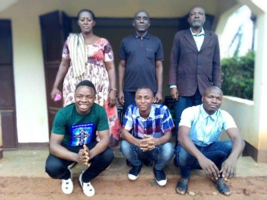 Sospeter, Anzaruni and Felisiano with Parents