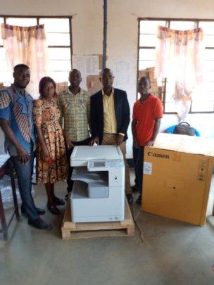 Teachers with new Copy Machine