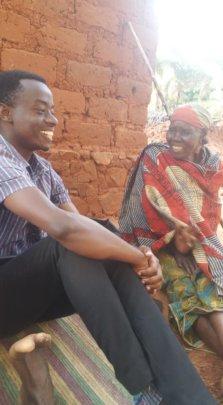 Tumsifu visits Dibeit's Grandma in Kiganza Village