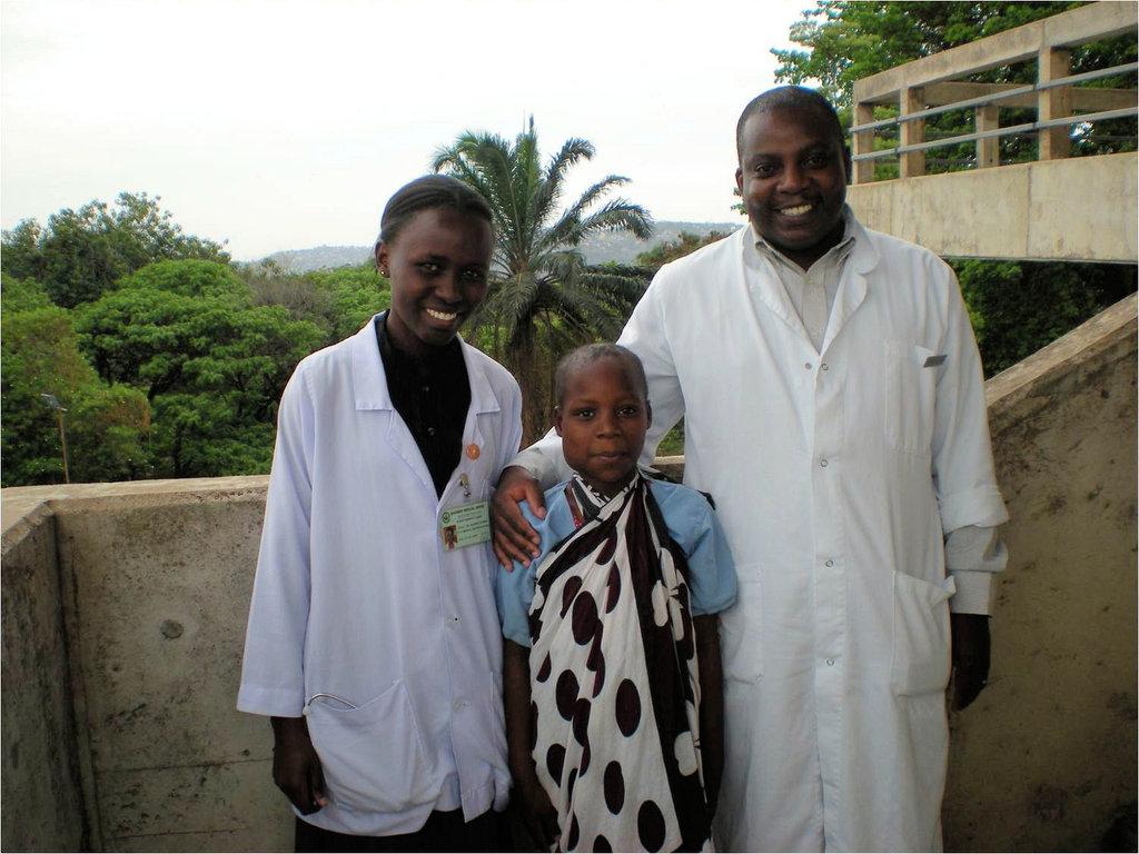 Dr Nestori, assistant and Kikongo
