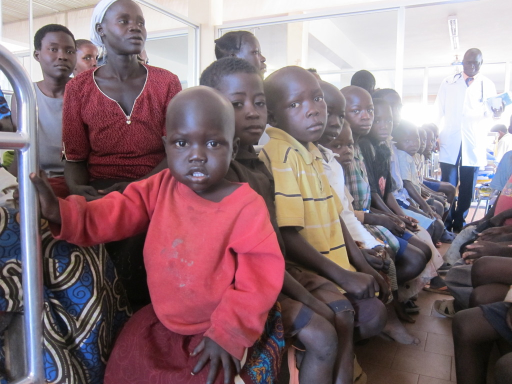 Children waiting for treatment