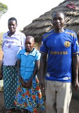 Akello With Her Parents