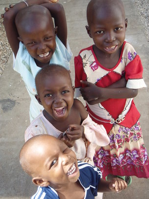 Tanzanian children at the end of their treatment