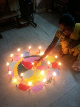 Spreading colours and light on Diwali