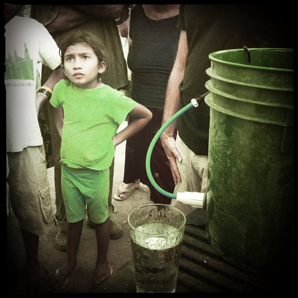 One of the beneficiaries of clean water program