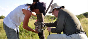 Camera traps record any animal that passes by.