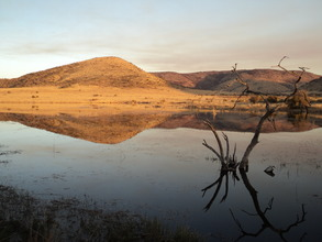 Land and water meet in South Africa's interior