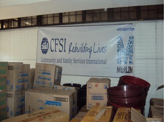 Merlin work with local NGO CFSI