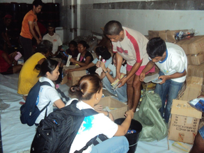 Packing the hygiene kits