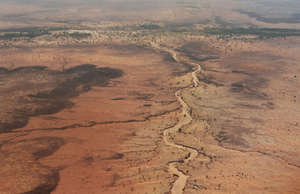 Parched earth in the Sahel