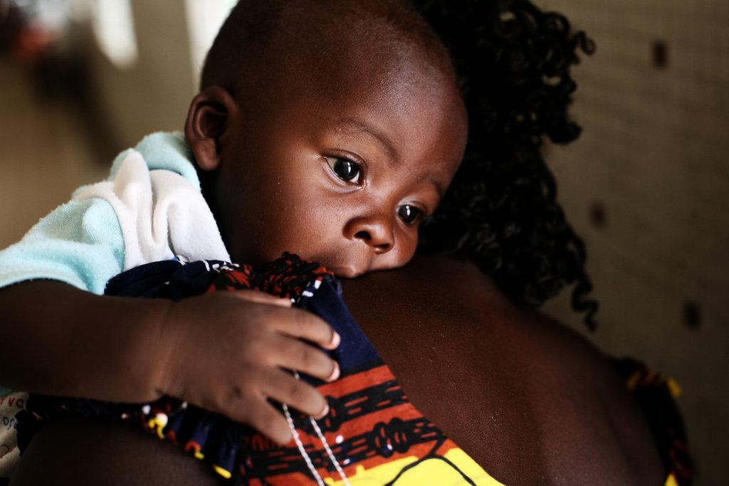A healthy baby in Burkina Faso