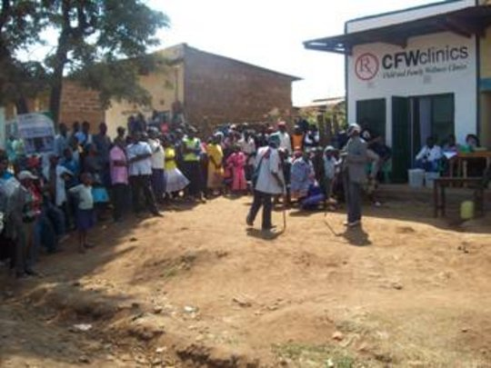 Photo of CFW clinic in Kaanwa village