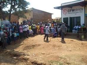 Photo of CFW clinic in Kaanwa village
