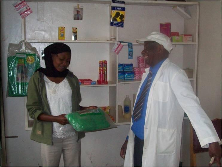 CFW patient buying mosquito net