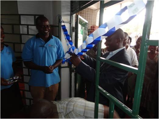 CFW--ribbon cutting at grand opening--Ugunja