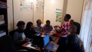 amHealth training session in Embu Office