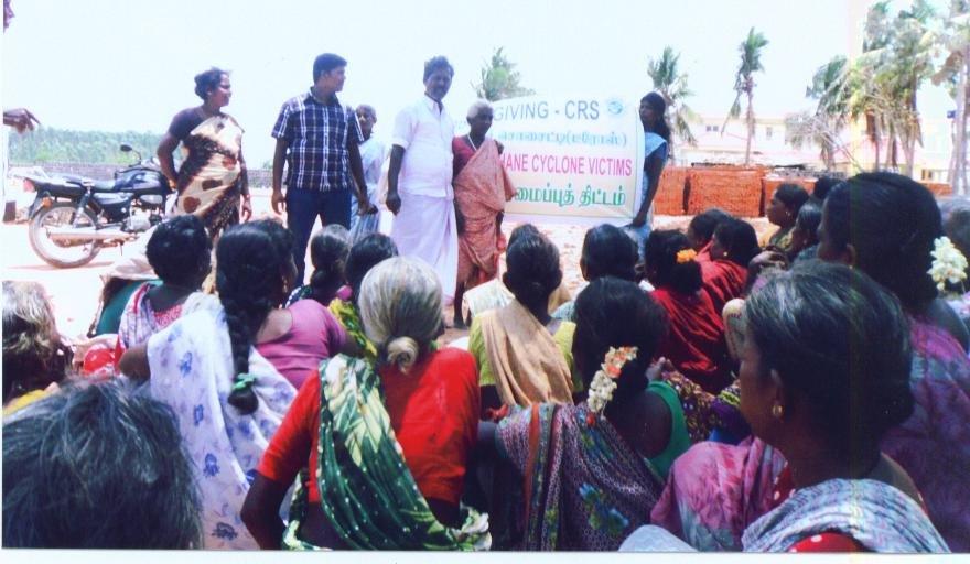 Disaster training at Kattuppalayam village