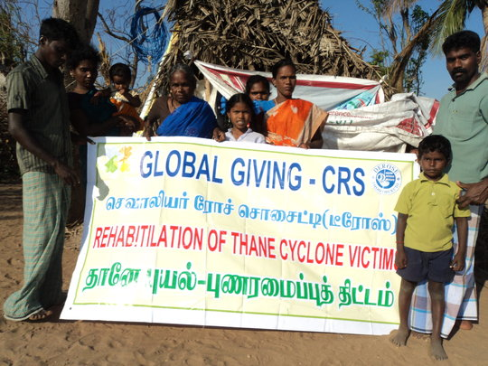 REHABITILATION OF THANE CYCLONE VICTIMS IN S.INDIA