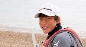 Reuben getting ready for sailing