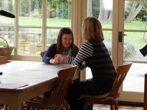 Laura and her mum Ellen