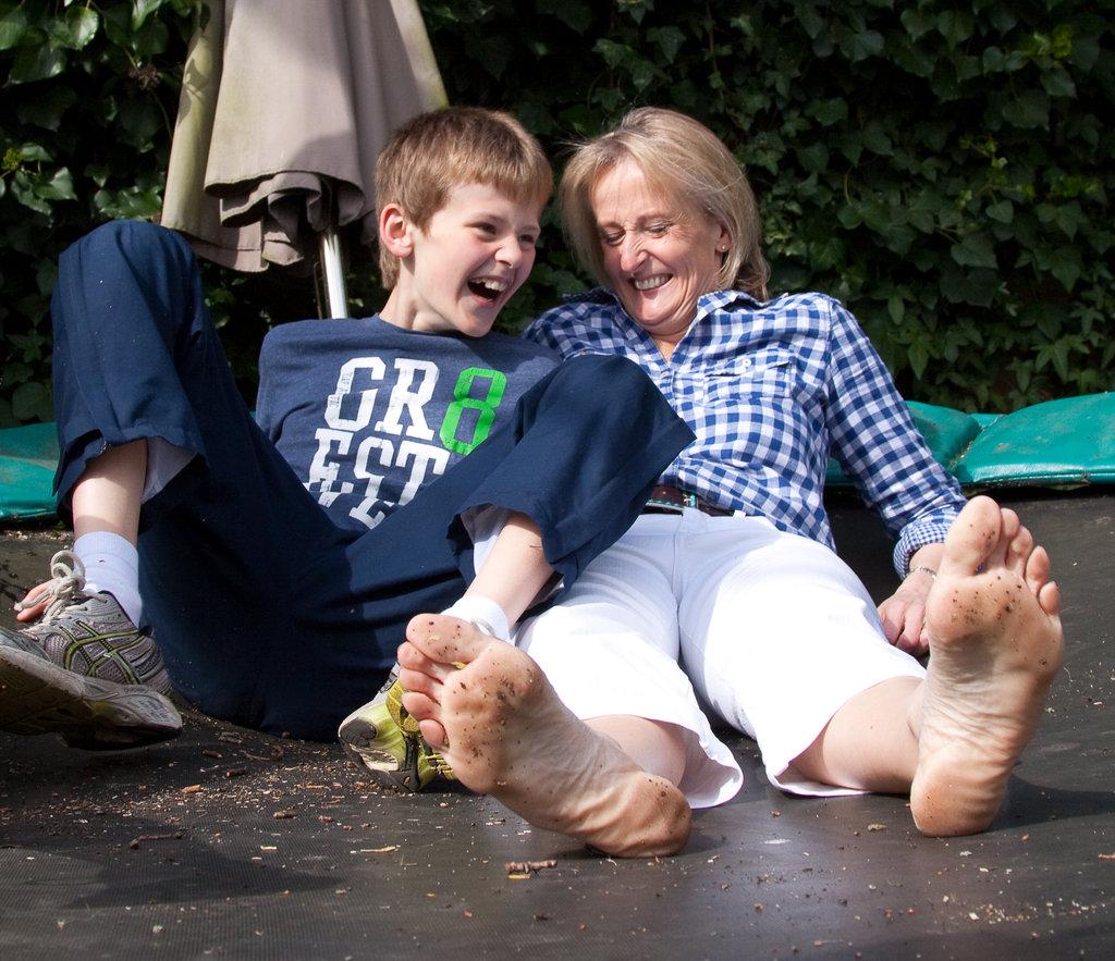 Mum Anna with Archie