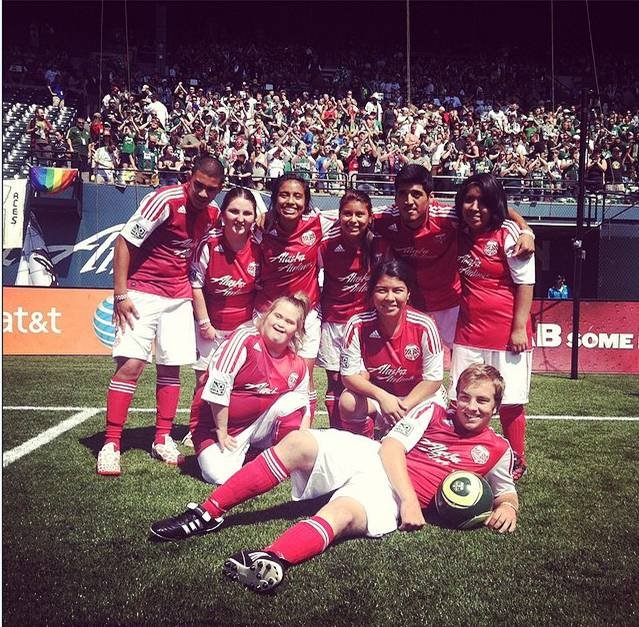 Special Olympics Oregon Timbers Unified team