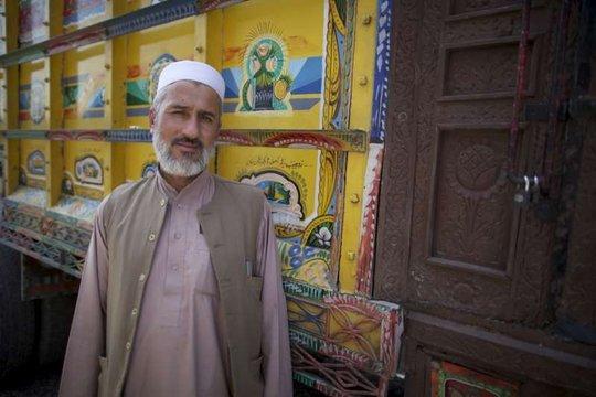 Ghulam Sakhi, prior to returning to Afghanistan.