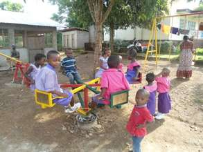 Children at the day care centre