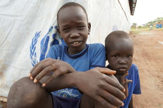 Sudanese refugee children. (c) UNHCR/G. Beals
