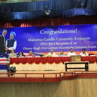 MGU Obama-Singh acceptance ceremony