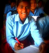 Girl receiving education at the centre