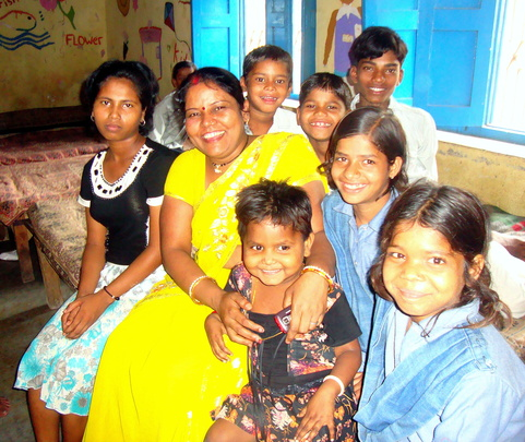 Staff with Children at he Centre