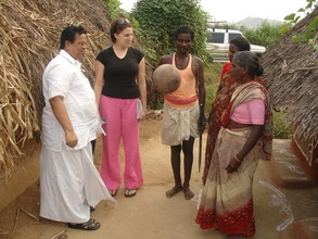 Volunteer visitor Meredith meeting beneficiary family