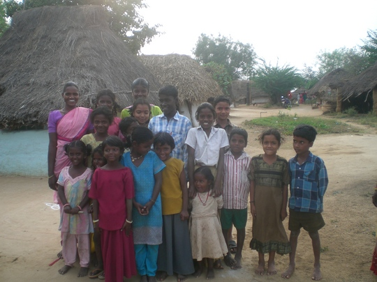 Photo - the village children love the camera