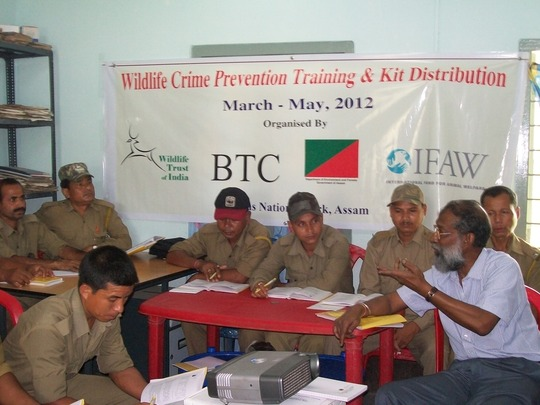 Wildlife Crime Prevention training class in Assam