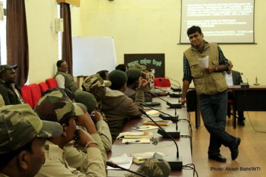 WTI's Jose Louies during the training
