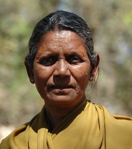 Leelabai - a 60 year old forest guard in Kanha NP