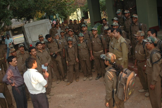 Forest guards at a WTI training session